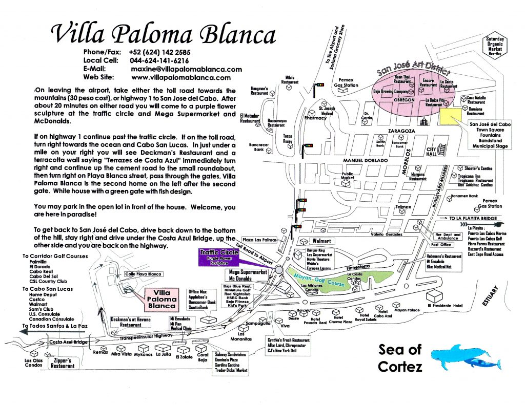 Villa Paloma Blanca map and directions